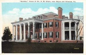 Boyce Virginia birds eye view Scaleby home of H.B. Gilpin antique pc Z45649