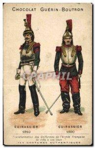Chromo Chocolate Guerin Boutron Cuirassier 1810 1890 Militaria
