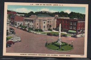 North Carolina colour Square Monument County House Lenoir, N.C unused