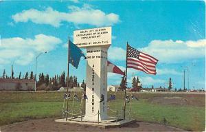 End of Alaska Highway Marker Delta Junction ????
