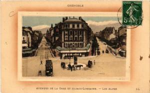 CPA GRENOBLE - Avenue de la Gare et Alsace-Lorraine - Les Alpes (655086)