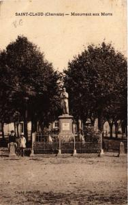 CPA St-Claud (Charente) - Monument aux Morts (519015)