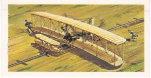 Trade Card Brooke Bond Tea History of Aviation black back reprint No 4