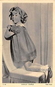 Fox Film, Shirley Temple Movie Star Actor Actress Film Star Postcard, Old Vin...