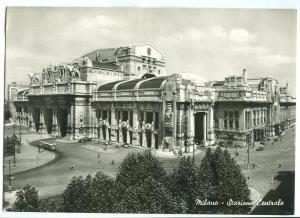 Italy, Milano, Stazione Centrale 1930s-40s unused real photo