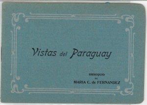 PARAGUAY -  Vintage Postcard - ADVERTISING BOOKLET with VIEWS - Ñandutí LACE #1