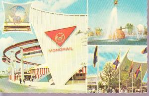 New York World's Fair 1964-65  Monorail, Solar Fountain & GM