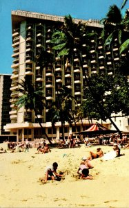 Hawaii Waikiki Beach The Surfrider Hotel 1974