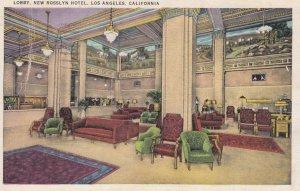 LOS ANGELES , California , 1930-40s ; Lobby , New Rosslyn Hotel