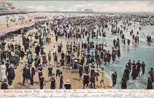 New Jersey Atlantic City Beach Above Steel Pier 1907
