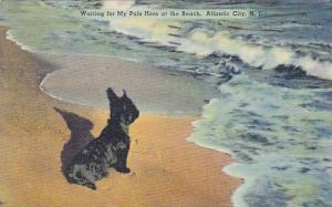 Waiting for my pals here at the Beach, Atlantic City, New Jersey, PU-1942