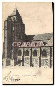 Postcard Old Treport the church Saint Jacques