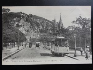France: ROUEN Le Tramway de Bon-Secours, Tram No.3 Arrivee a Rouen - by LL.479