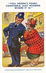 Bamforth Traffic Police Policeman Comic Humour Old Postcard