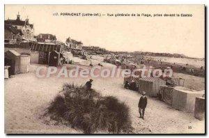 Postcard Old Pornichet Vue Generale De La Plage