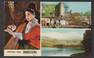 3 View Card Of Brecon, Wales - Unused - Some Wear