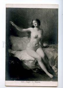 244674 NUDE NYMPH Woman Sappho by MERCIER Vintage PC