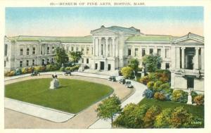 Museum of Fine Arts, Boston, Mass 1920s unused Postcard