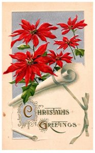 Christmas , Scroll , Pointsetters