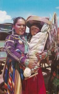 New Mexico Navajo Indian Mother and Baby