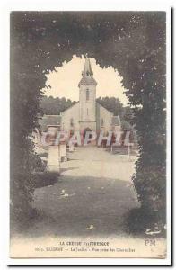 Creuse Gueret Old Postcard The Garden View taken Charmilles