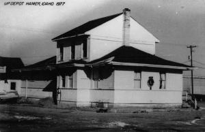 Hamer Idaho 1977 Union Pacific train depot real photo pc Z18249