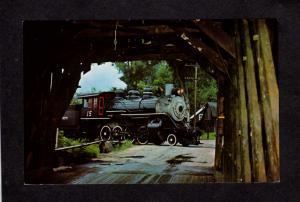 VT Steam Train Railroad Engine Steamtown Bellows Falls Vermont Postcard