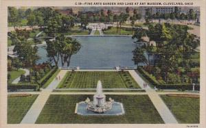 Fine Arts Garden And Lake At Museum Cleveland Ohio