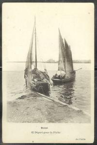 France, Old Brest harbor, sailboats, unused
