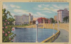 Florida Lakeland Civic Center On Beautiful Lake Mirror Curteich