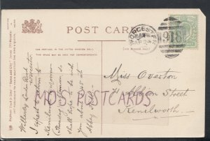 Family History Postcard - Overton - 71 Albion Street, Kenilworth  RF3409