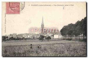 Plesse - General View from the & # 39Est - Old Postcard