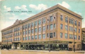 Omaha Nebraska~Howell Drug Store~Diamonds & Watches~Hotel Loyal~1910 Postcard