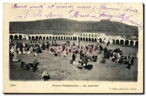 Old Postcard Foum Tatahouine Le Marche
