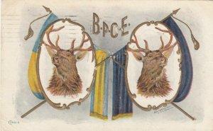 B.P.O.E., Two Mounted Buck Heads, PU-1907