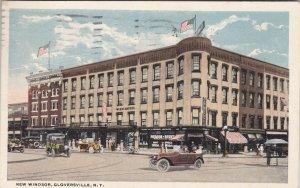 New York Gloversville New Windsor Hotel 1922 Curteich sk2573