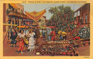 Typical of Early Los Angeles - Olvera Street Los Angeles CA
