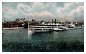 Steamer   Hendrick Hudson Leaving Albany New York