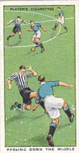 Cigarette Card Player Association Football Hints 1934 No 28 Passing Down The ...