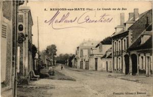 CPA RESSON-sur-MATZ La Grande rue du Bas (376961)