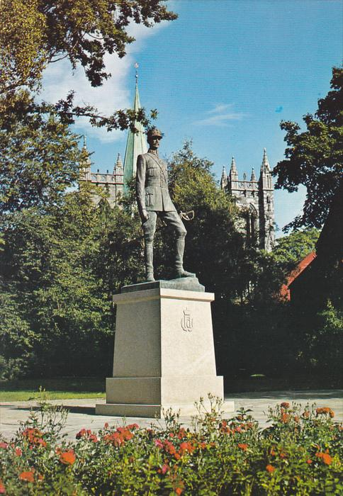 The Statue Of King Haakon 7, Trondheim, Norway, 1960-1970s