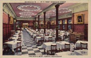 Illinois Chicago Henricis Restaurant Curteich