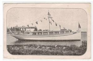 Motor Launch Boat Owls of Milwaukee Wisconsin in Canada postcard