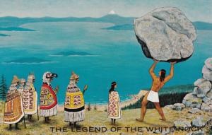 WHITE ROCK, British Columbia, Canada, 1940-60s; Legend of the White Rock, Nat...