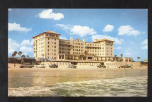 DAYTONA BEACH FLORIDA DAYTONA HOTEL ADVERTISING POSTCARD OLD CARS