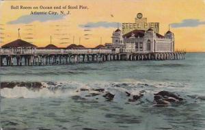 New Jersey Atlantic City Ball Room On Ocean End Of Steel Pier 1914