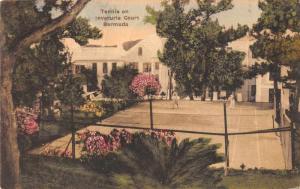 Bermuda Inverurie Court Tennis  Vintage Postcard JD933705
