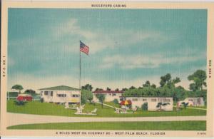 West Palm Beach FL - Boulevard Cabins along Highway 80 , 1940s
