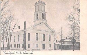 Rushford ME Church New York Postcard