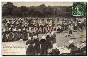 Vannes Old Postcard Breton Noces around Vannes After the feast the guests dan...